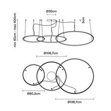 Oympic f45 3 diffusers bronze lorenzo truant  suspension pendant light  fabbian bronze f45 a11 76  design signed nedgis 72163 thumb