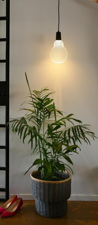 Suspension oppo bulb blanc l23cm h30cm studio cheha normal