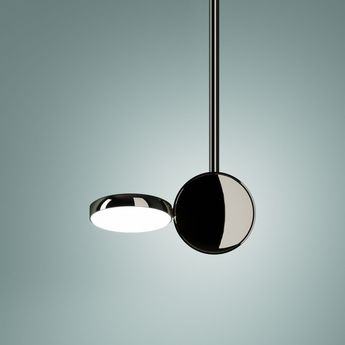 Suspension optunia marron sombre led o13cm h82 5cm fontana arte normal
