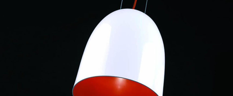Suspension orange blanc orange o23cm h28cm b lux normal