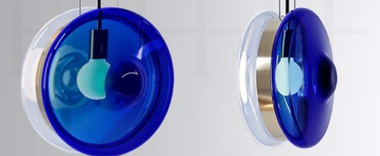 Suspension orbital 01 bleu neptune o36cm h36cm bomma normal
