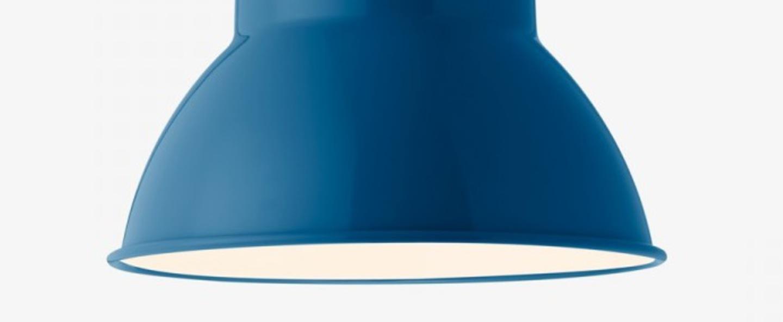 Suspension original 1227 giant bleu marine finition brillante o44cm h54cm anglepoise normal