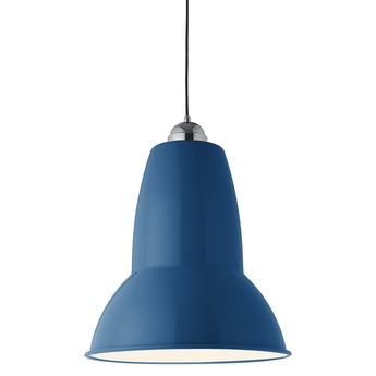 Suspension original 1227 giant bleu marine finition brillante o44cm h54cm anglepoise normal