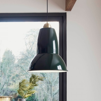 Suspension original 1227 giant brass vert fonce h58cm anglepoise normal