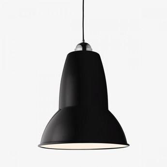 Suspension original 1227 giant noir brillant laiton h58cm 44cm anglepoise normal