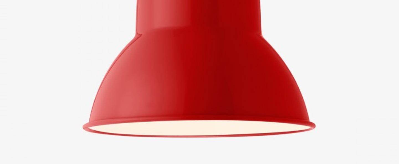 Suspension original 1227 giant rouge cramoisi finition brillante o44cm h54cm anglepoise normal
