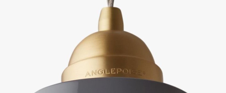 Suspension original 1227 maxi brass gris clair h30cm anglepoise normal