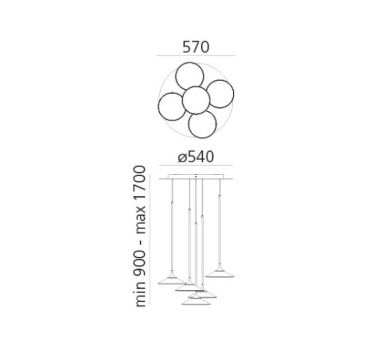 Orsa cluster 5  suspension pendant light  artemide 0355030a  design signed nedgis 120283 product