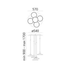 Orsa cluster 5  suspension pendant light  artemide 0355030a  design signed nedgis 120283 thumb