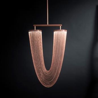 Suspension otero small cuivre led l83cm h15cm cto lighting normal