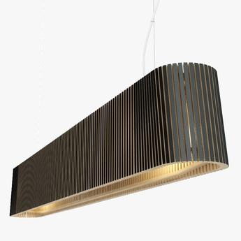 Suspension owalo 7000 noir lamine led l100cm h13cm secto design normal