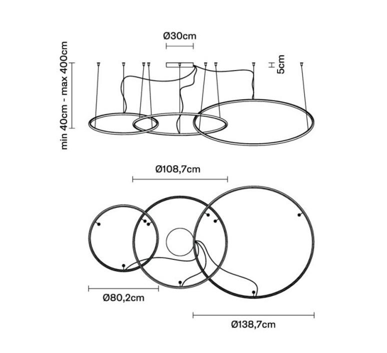 Oympic f45 3 diffusers bronze lorenzo truant  suspension pendant light  fabbian bronze f45 a11 76  design signed nedgis 65038 product