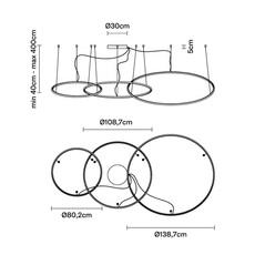 Oympic f45 3 diffusers bronze lorenzo truant  suspension pendant light  fabbian bronze f45 a11 76  design signed nedgis 65038 thumb