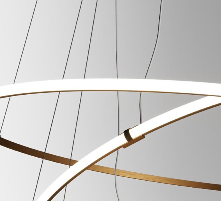 Oympic f45 3 diffusers bronze lorenzo truant  suspension pendant light  fabbian bronze f45 a11 76  design signed nedgis 65039 product