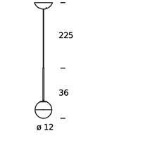 Pallina historical archive fontana arte suspension pendant light  fontanaarte  f443080150 ne laiton  design signed nedgis 79093 thumb