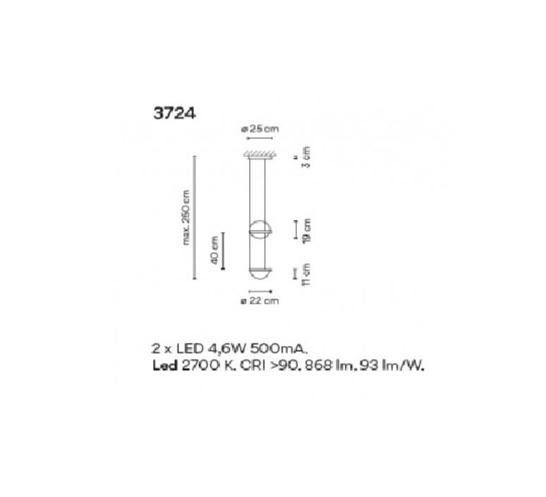 Palma 3724 antoni arola suspension pendant light  vibia 372418 1b  design signed nedgis 80142 product