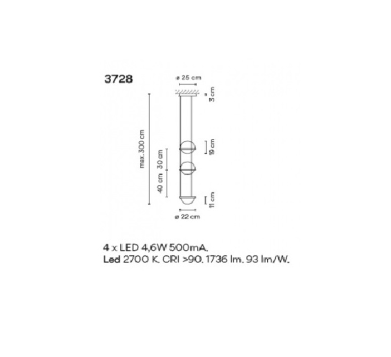 Palma 3728 antoni arola suspension pendant light  vibia 372818 1b  design signed nedgis 80163 product
