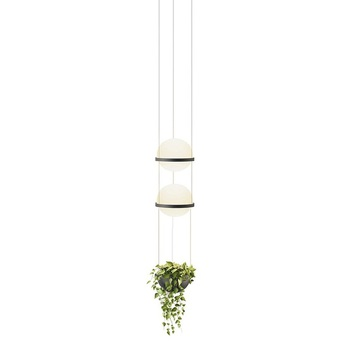 Suspension palma 3728 graphite 0led 2700k 1371lm o22cm h70cm vibia normal