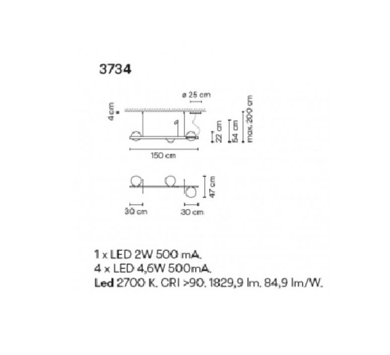 Palma 3734 antoni arola suspension pendant light  vibia 373418 1a  design signed nedgis 80176 product