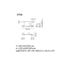 Palma 3734 antoni arola suspension pendant light  vibia 373418 1a  design signed nedgis 80176 thumb