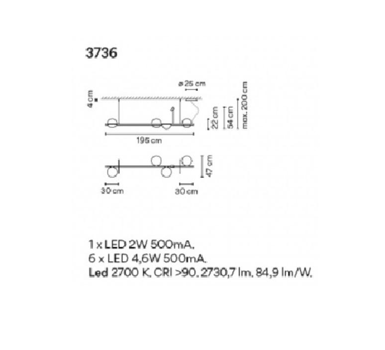 Palma 3736 antoni arola suspension pendant light  vibia 373618 1a  design signed nedgis 80183 product