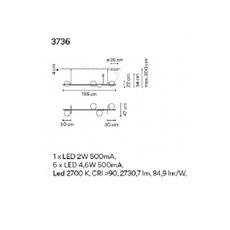 Palma 3736 antoni arola suspension pendant light  vibia 373618 1a  design signed nedgis 80183 thumb