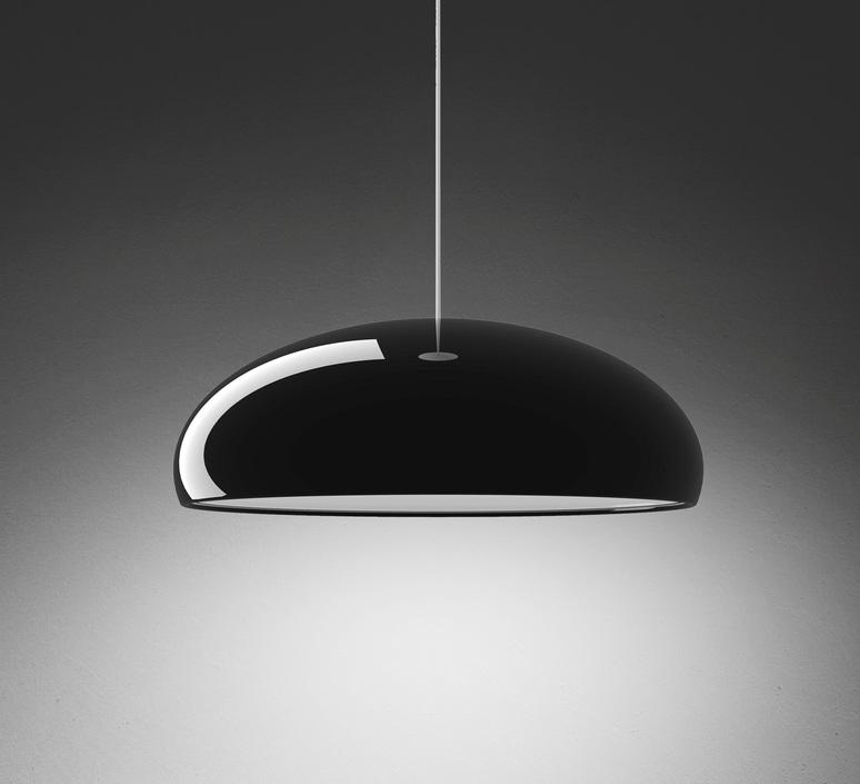 suspension pangen noir 60cm fontana arte luminaires nedgis. Black Bedroom Furniture Sets. Home Design Ideas