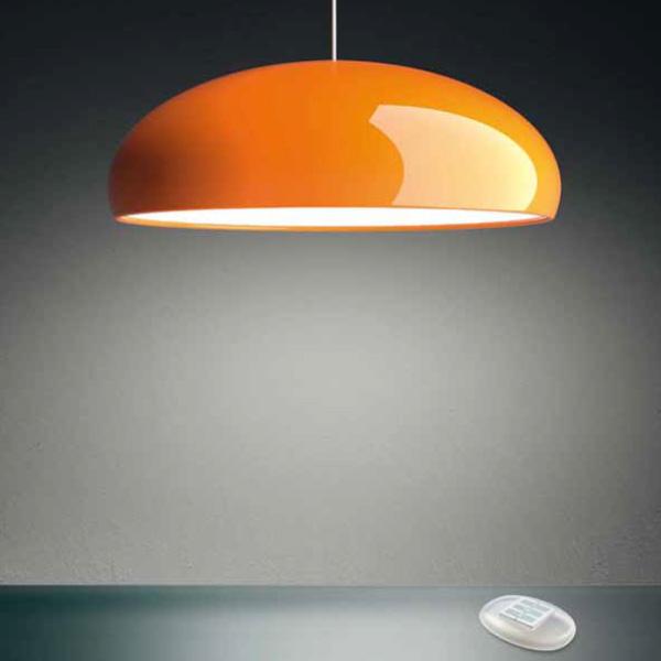 suspension pangen orange 60cm fontana arte luminaires nedgis. Black Bedroom Furniture Sets. Home Design Ideas