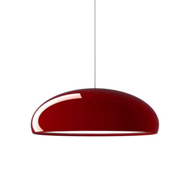 Suspension pangen rouge 60cm fontana arte for Luminaire suspension rouge