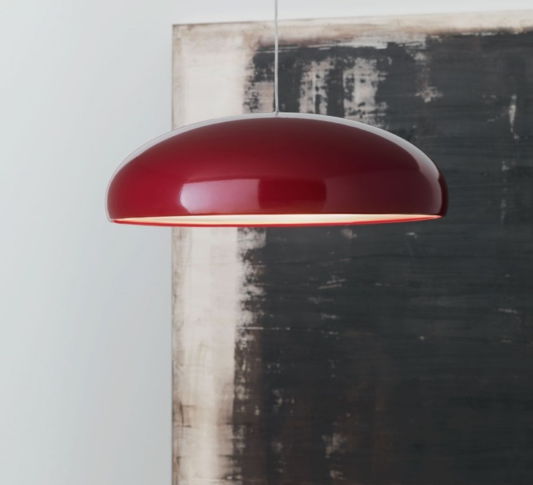 pendant light pangen red 60cm fontana arte nedgis lighting. Black Bedroom Furniture Sets. Home Design Ideas