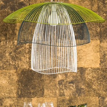 Suspension papillon gm bleu vert blanc o100cm forestier normal
