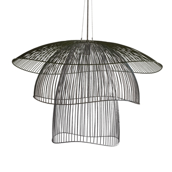 Suspension papillon gm noir o100cm forestier normal