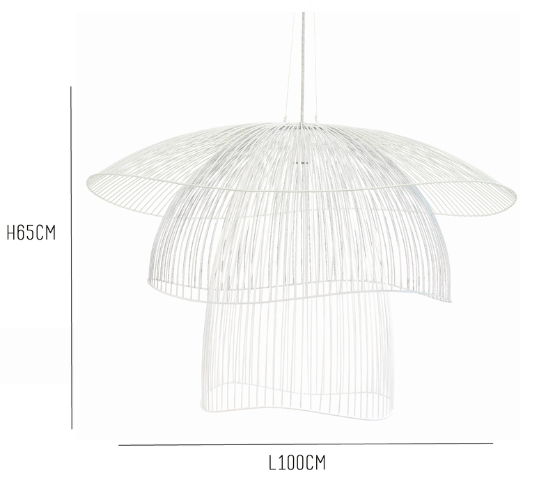 Papillon l elise fouin suspension pendant light  forestier 20786  design signed 60412 product