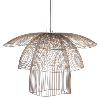 Suspension papillon l champagne o100cm h65cm forestier normal