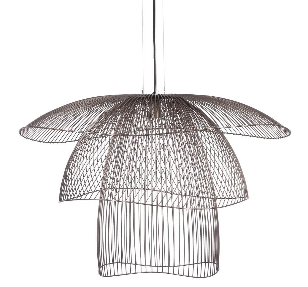 suspension papillon l rose cuivre 100cm h65cm forestier luminaires nedgis. Black Bedroom Furniture Sets. Home Design Ideas