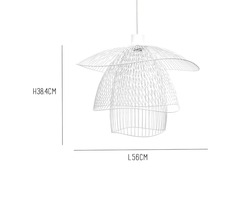 Papillon pm elise fouin forestier ef11170swh luminaire lighting design signed 27671 product