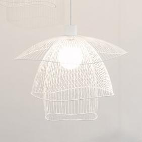suspension papillon s blanc 56cm forestier luminaires nedgis. Black Bedroom Furniture Sets. Home Design Ideas
