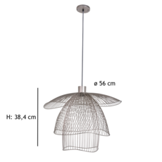 Papillon pm  suspension pendant light  forestier 20791  design signed 38410 thumb