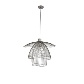 Suspension papillon pm gris souris o56cm h38 4cm forestier normal