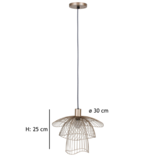 Papillon xs  suspension pendant light  forestier 20974  design signed 38420 thumb