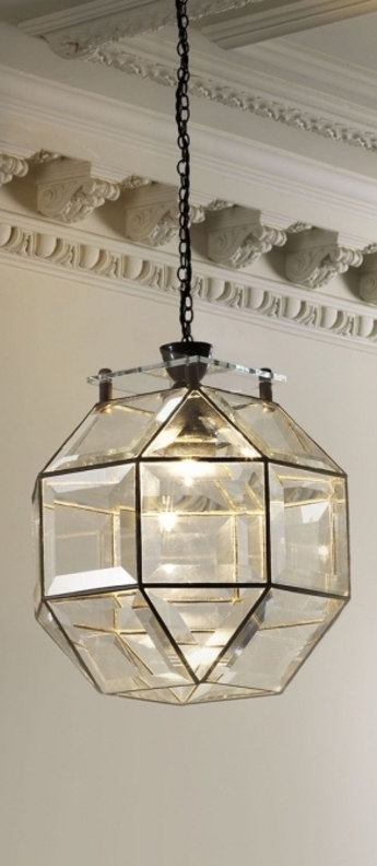 Suspension paragon transparent bronze o30cm h30cm cto lighting normal