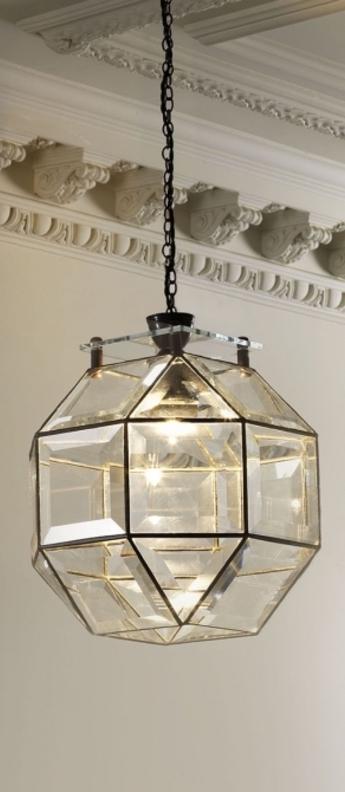 Suspension paragon transparent bronze o30cm h30cm cto lighting normal