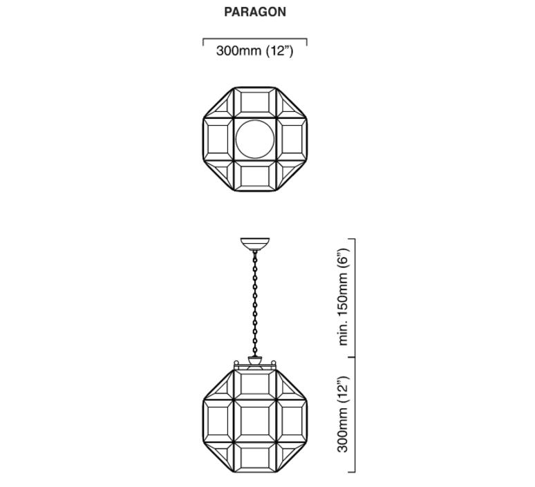 Paragon chris et clare turner suspension pendant light  cto lighting cto 01 180 0001  design signed 47927 product