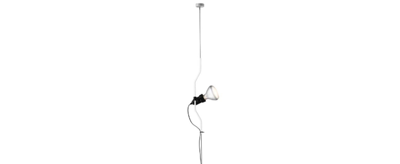 Suspension parentesi dimmer blanc o11cm h400cm flos normal