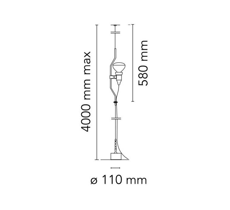 Parentesi dimmer achille castiglioni suspension pendant light  flos f5600009  design signed nedgis 97496 product