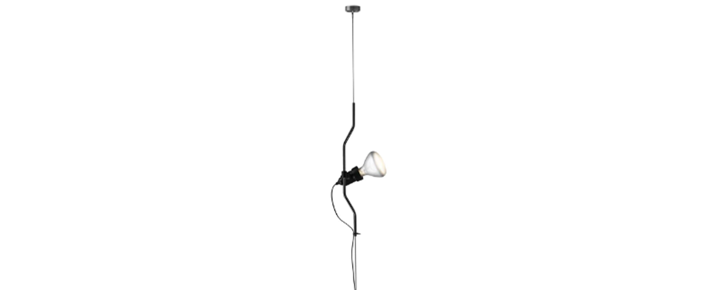 Suspension parentesi dimmer noir o11cm h400cm flos normal