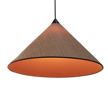 Suspension paris hanoi raphia naturel orange o71cm h42cm designheure normal