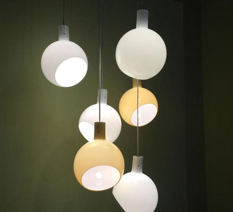 Pendant Light Parola Led White H27cm Fontana Arte