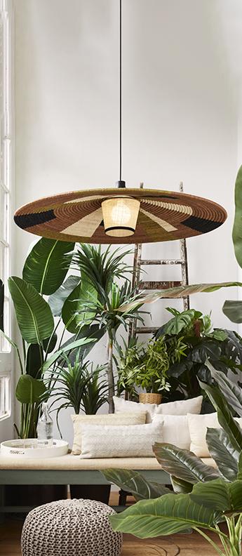 Suspension parrot xl marron o100cm h24cm forestier normal