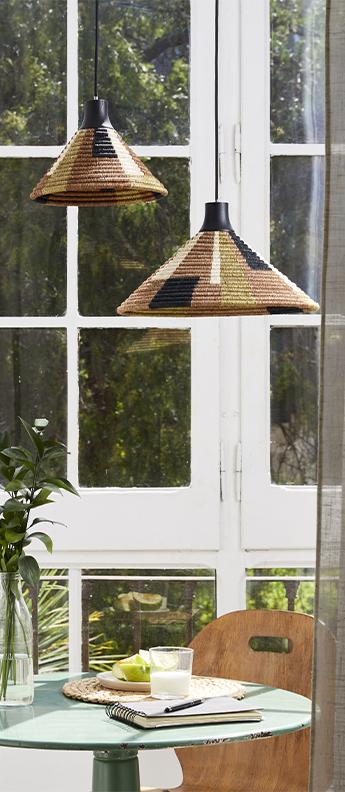 Suspension parrot xs marron o26cm h18cm forestier normal